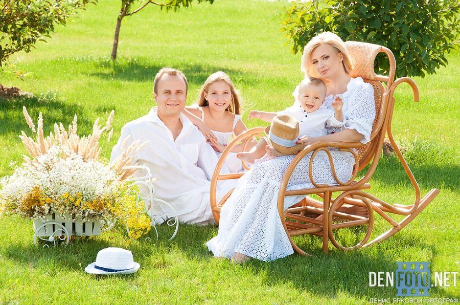 Семейное фото на природе фото 291-679
