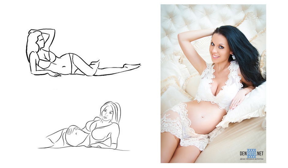 Как фотографироваться позы беременным 85