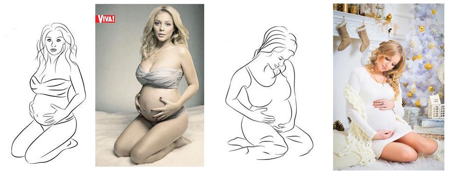 10 самых популярных поз для фотосессии беременных